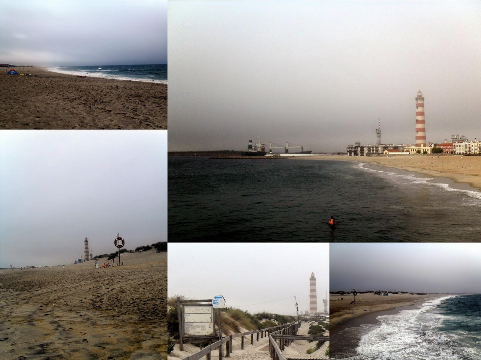 paseo y playa al Faro de Aveiro