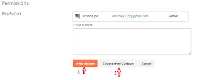 blogger blog author setting