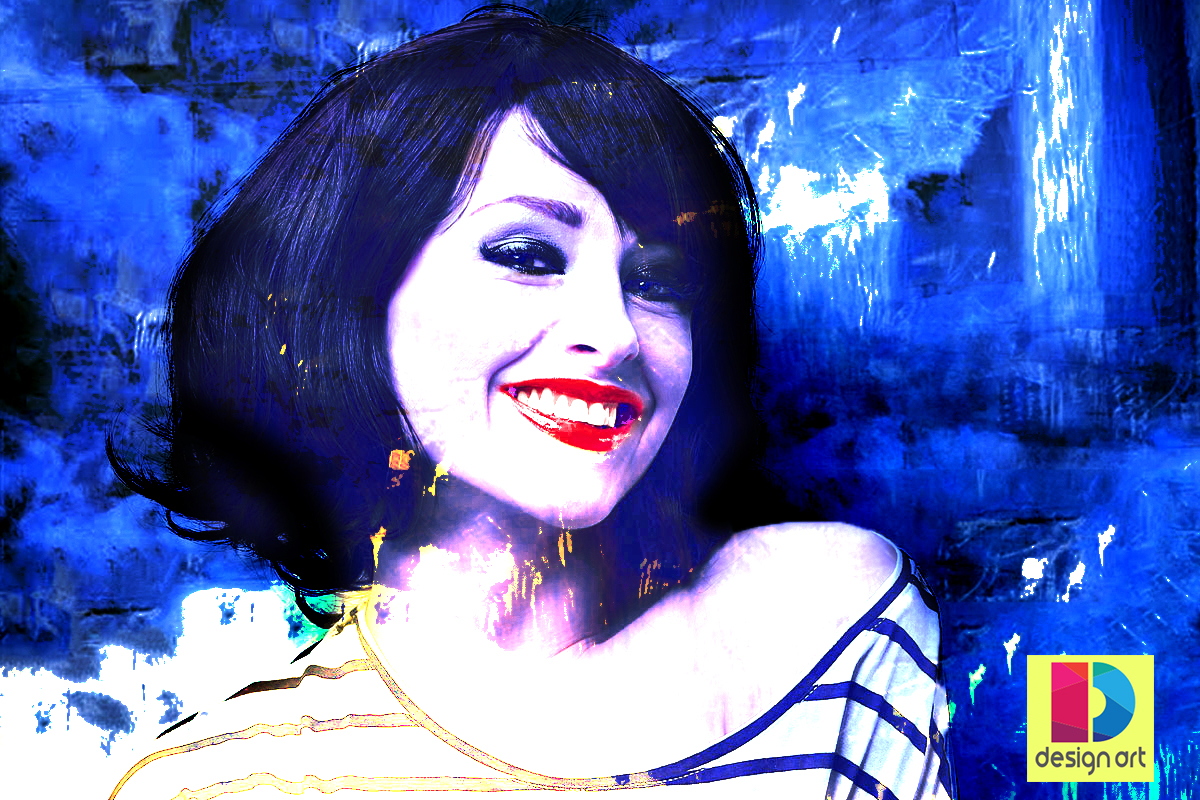 How to Create Young|Fun|Cool Woman|Close Up Smile Face|Watercolor