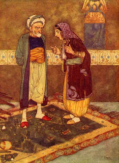 Ali Baba's Brother Qasim and his wife