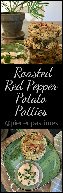 Roasted Red Pepper Potato Patties at Pieced Pastimes