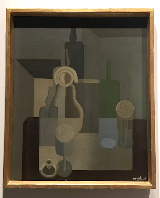 """The State Hermitage Museum's oil on canvas by Amedee Ozenfant entitled """"Still life, crockery"""", 1920"""