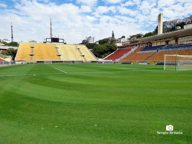 Vista do Campo e Tobogã do Estádio do Pacaembu - São Paulo