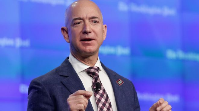 Amazon boss becomes world's third richest