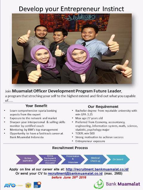Rekrutmen Muamalat Officer Development