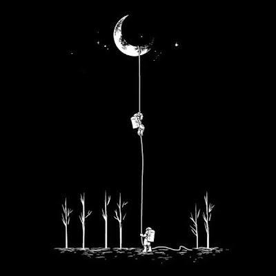 llegando a la luna