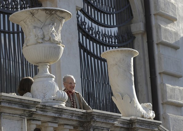 Queen Margrethe visited Borghese Art Gallery at Villa Borghese Gardens in Rome