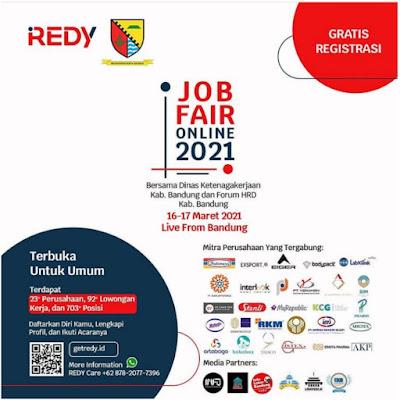 Daftar Job Fair Online 2021 REDY Bersama Dinas Ketenagakerjaan Kabupaten Bandung