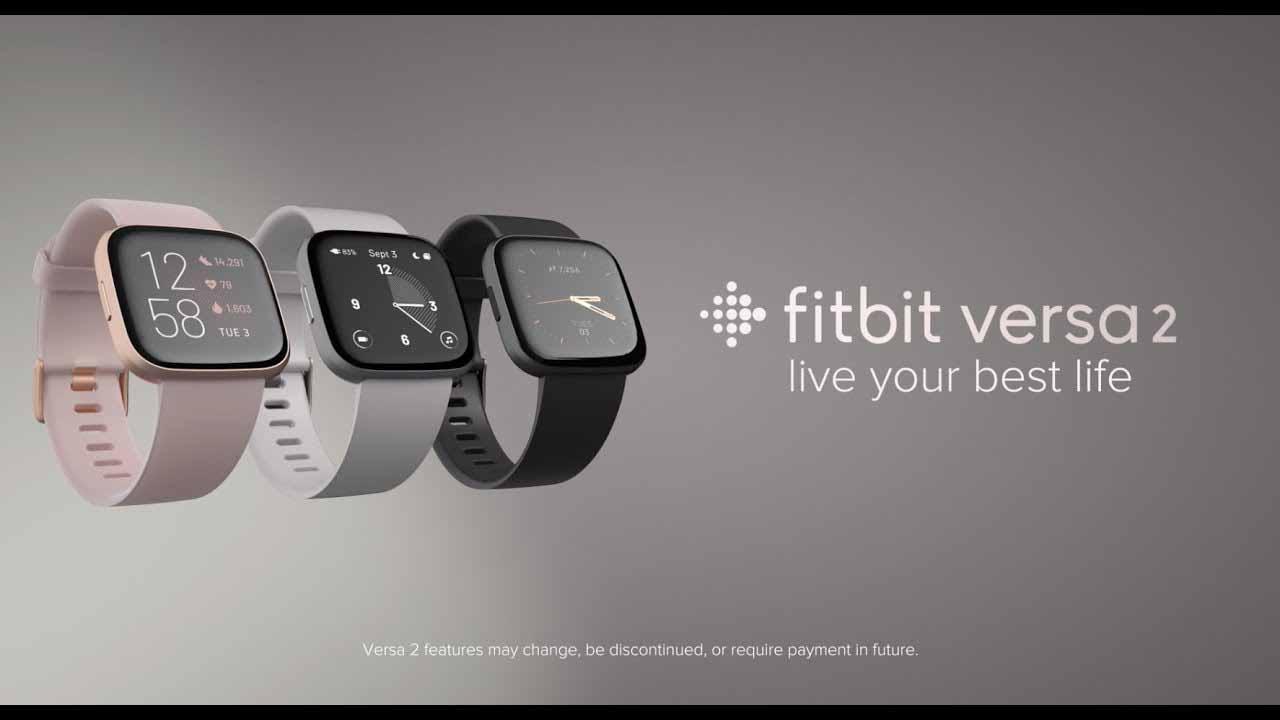 Fitbit FB507BKBK Versa 2 Health  Fitness Smartwatch