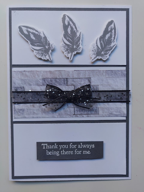 Stampin' Up Positive Thoughts Gray Masculine Card