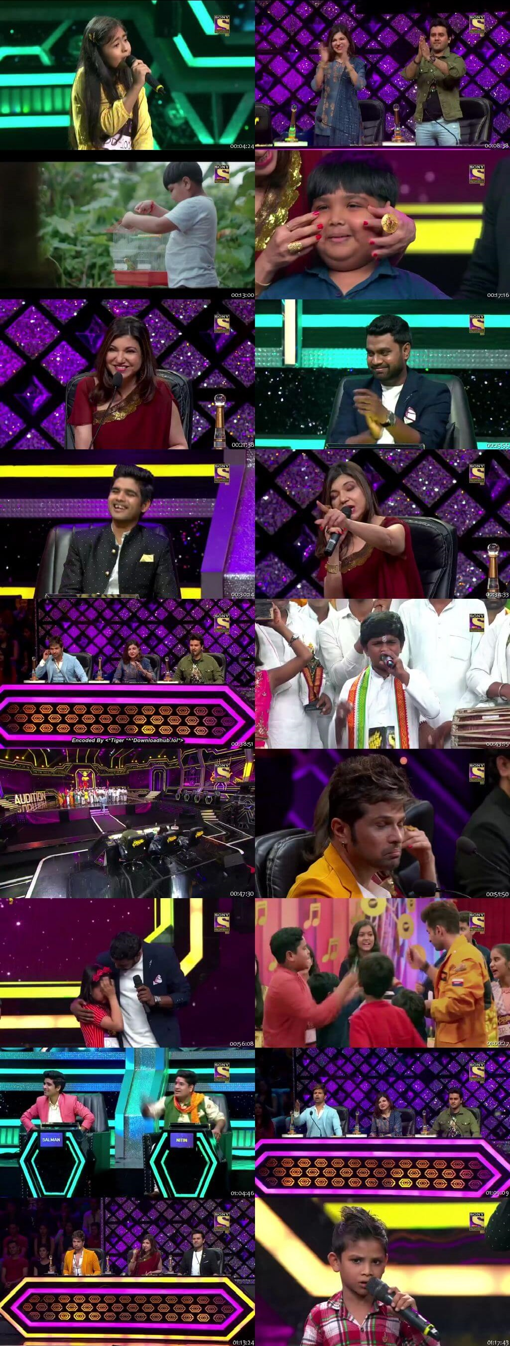 Screenshots Of Hindi Show Superstar Singer 29th June 2019 Episode 01 300MB 480P HD