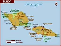 Peta Negara Samoa