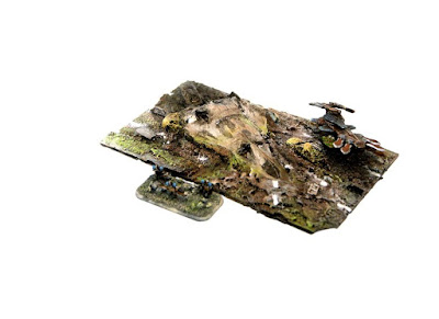 1 x 150mm Long Crash Site Terrain Piece picture 2