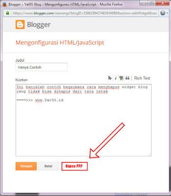 Cara Menghapus Widget yang Tidak Bisa dihapus (Blogspot)