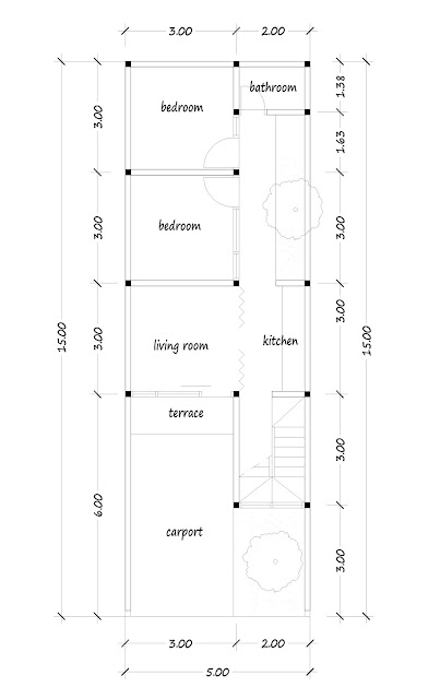 floor plan of narrow house 10