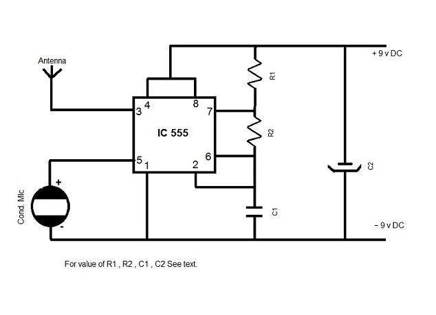 am radio transmitter using 555 chip