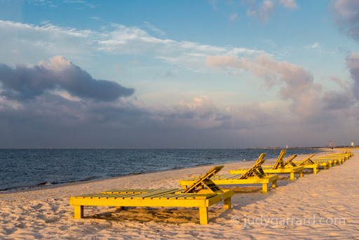 Yellow Beach Chairs in Biloxi, MS
