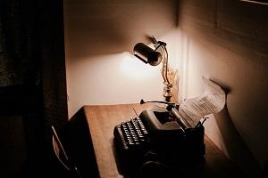 Máquina de escribir para escribir una novela