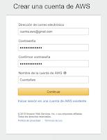 Crear Cuenta en AWS