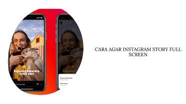 Cara Agar Story Instagram Full Screen