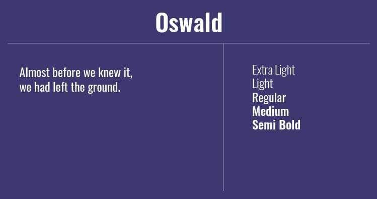 Font Terbaik Untuk Website Salah Satunya Adalah Oswald