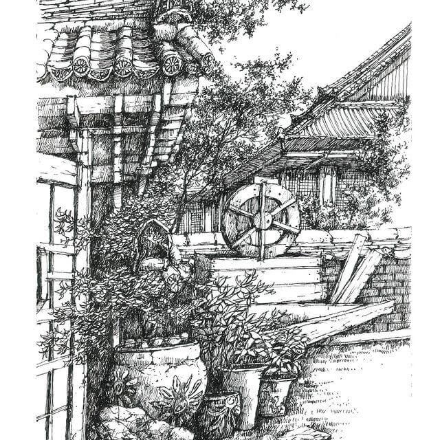 10-Peaceful-and-serene-view-sketch_forum-www-designstack-co