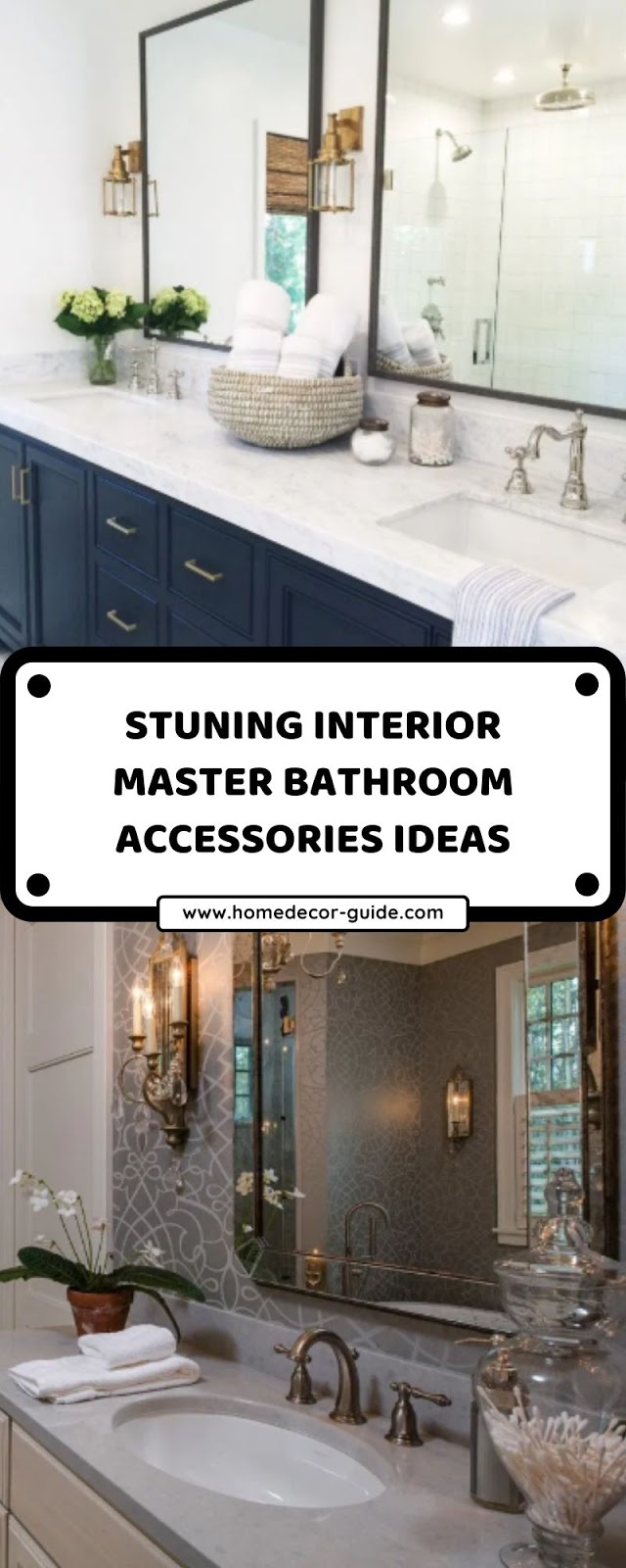 STUNING INTERIOR MASTER BATHROOM ACCESSORIES IDEAS