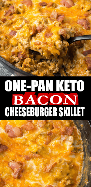 #ONEPAN #KETO #BACON #CHEESEBURGER SKILLET