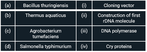 Match the organism with its use in biotechnology.