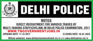 delhi-police-recruitment-mts-2017-exam