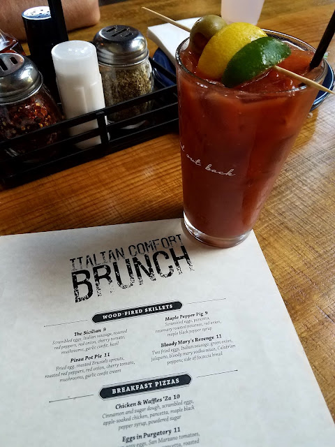 Bloody Mary on the Brunch Menu at Pizza La  Stella in Raleigh