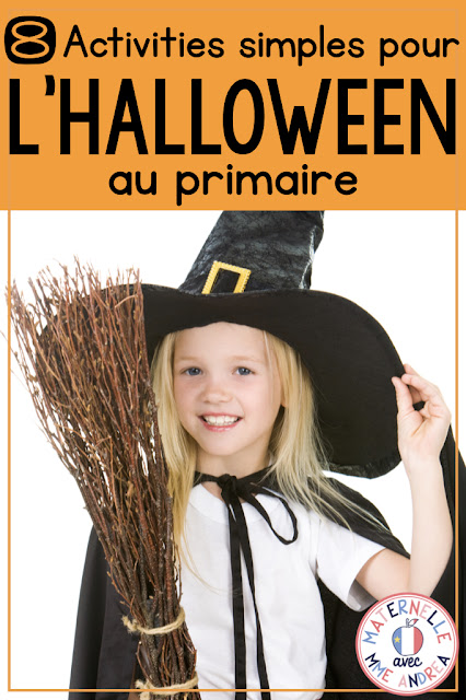 Looking for some super-simple, quick, but fun activities for your students this Halloween? Check out this blog post for 8 activities you can do with your students in about 15 minutes each! #halloween #maternelle #frenchteachers