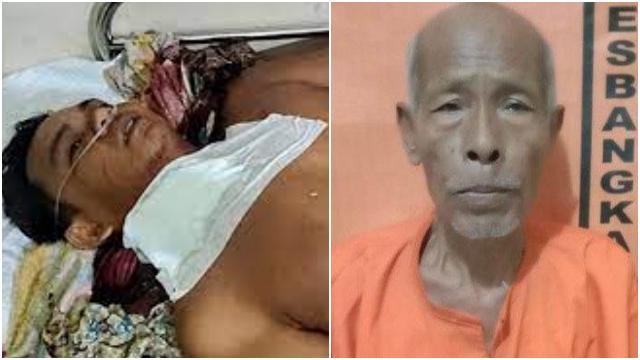 Sadis, Kakek 70 Tahun Bacok Leher Menantunya yang Sedang Sujud Ketika Shalat Maghrib