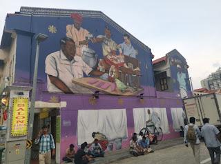 Barrio Indio o Little India, Singapur. Alrededores de la Tang Teng Niah House.
