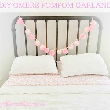 DIY OMBRE POMPOM GARLAND