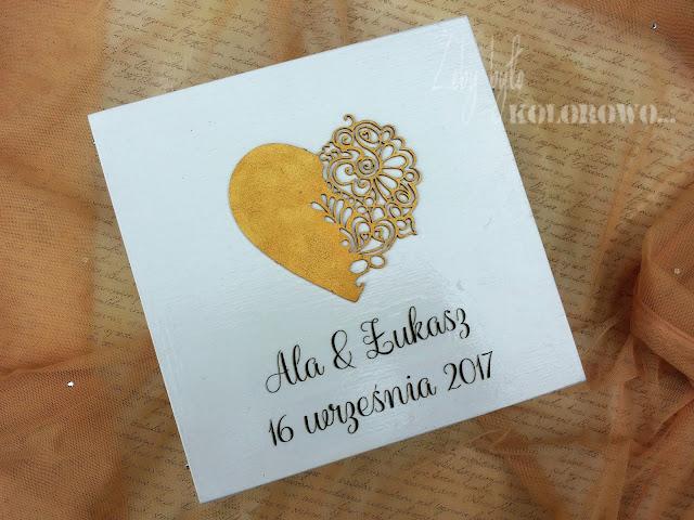 skrzynia na karty ślubne