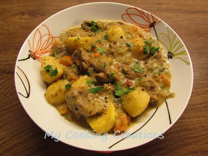 Телешка яхния с картофи и сметана * Spezzatino di vitello con patate e panna