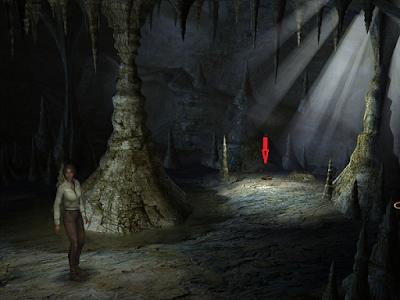 внутри пещеры лежит игрушечный мамонт в игре сибирь