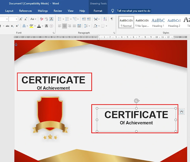 download template sertifikat word gratis