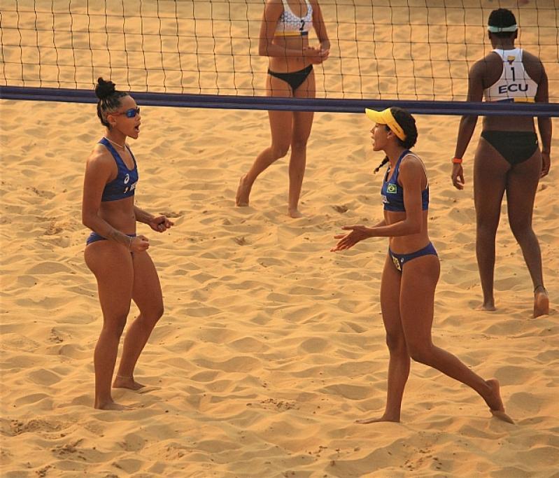 Brasileiros no Sul-Americano sub-21 de vôlei de praia