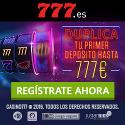 Casino777 duplica tu primer deposito hasta 777 euros