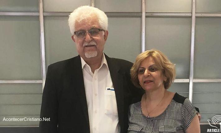 Pastor iraní Victor Bet-Tamraz y su esposa
