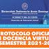 PROTOCOLO OFICIAL DE DOCENCIA VIRTUAL UASD SEMESTRE 2021-20