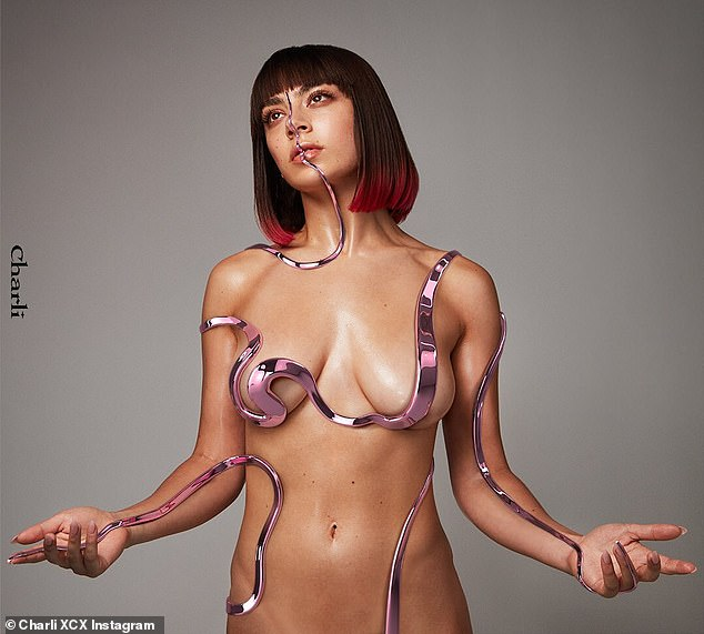 Charli XCX goes almost NAKED for very risqué album artwork