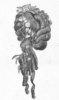 Half peruke (wig) from Harper's, 1867