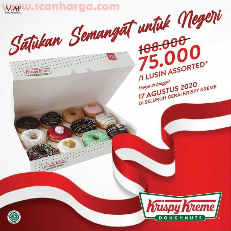 Krispy Kreme Promo 1 Lusin Assorted Donut Cuma Rp 75.000 Periode 17 Agustus 2020