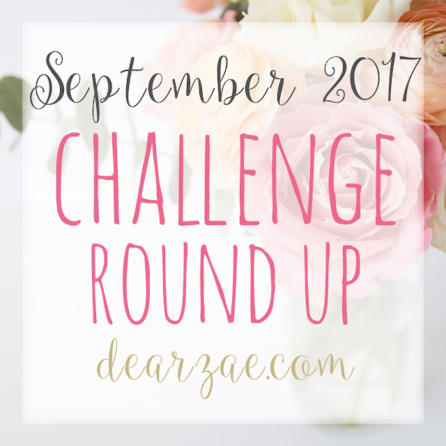 September 2017 scrapbooking and challenge round up list