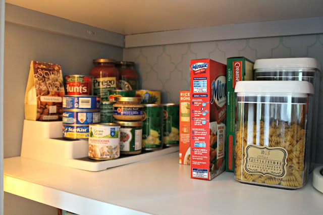 stacking shelves for pantry