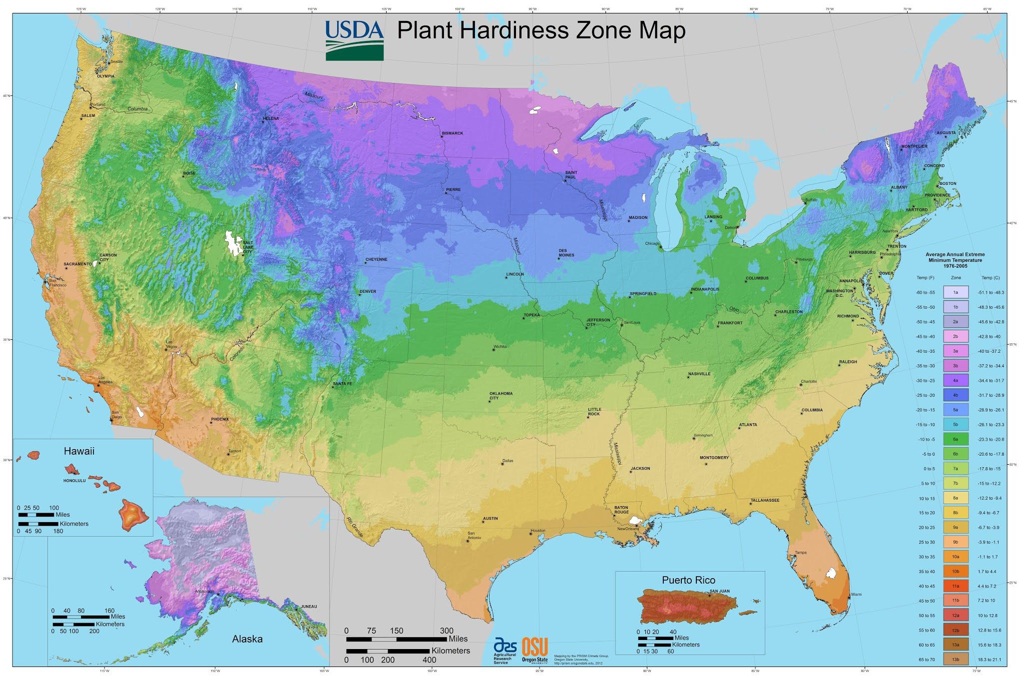 Detailed Gardening Zone Map