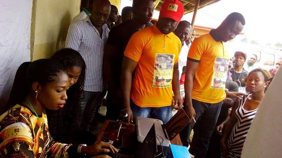 Edo governorship elections: Mercy Johnson and hubby spotted at PVC registration